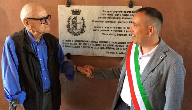 INTERNATI MILITARI ITALIANI: FIDENZA LI CELEBRA CON UNA TARGA